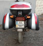 Buy luggage carriers on a motorcycle. Motorcycle side frames